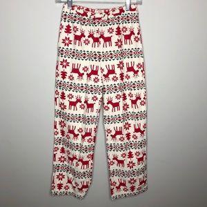 Hanna Andersson Boys Reindeer Winter Pajama Pants